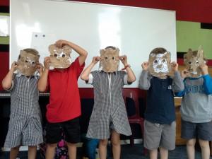 Farm animals' masks